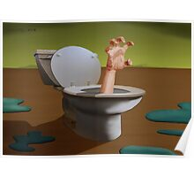 SURREALISM - Fear Of The Toilet Poster