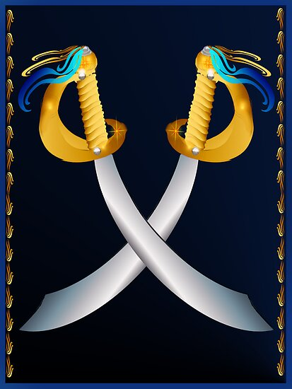 Two Talk Like A Pirate Day Crossed Cutlass by Lotacats