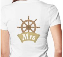Mr and Mrs Wedding Honeymoon Cruise Just Married Womens Fitted T-Shirt