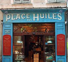 Quaint shopfront on Place Huiles by mightymite