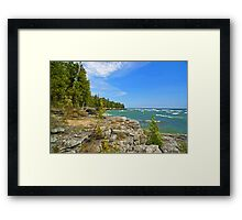 Lake Michigan,Wisconsin Framed Print