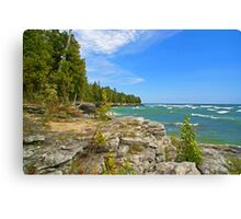 Lake Michigan,Wisconsin Canvas Print