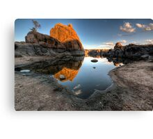 Mirror Less Canvas Print