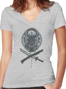Dead Men Walking Women's Fitted V-Neck T-Shirt