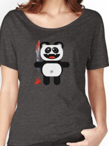 PANDA 2 (Cute pet with a sharp knife!) Women's Relaxed Fit T-Shirt