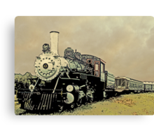 Steam Engine 44 Cartoon Style Canvas Print