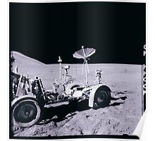 Apollo Archive 0075 Moon Rover on Lunar Surface Poster