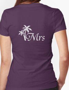 Mr and Mrs Tropical Beach Wedding Honeymoon Matching T-Shirt