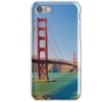 Golden Gate Bridge on a bright clear blue sky day iPhone Case/Skin