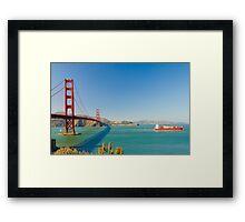 Golden Gate Bridge on a bright clear blue sky day Framed Print
