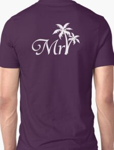 Mister Mr and Mrs Beach Wedding Honeymoon Matching T-Shirt