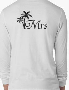His and Hers Mr and Mrs Palm Tree Honeymoon Matching T-shirts Long Sleeve T-Shirt