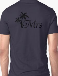 His and Hers Mr and Mrs Palm Tree Honeymoon Matching T-shirts Unisex T-Shirt
