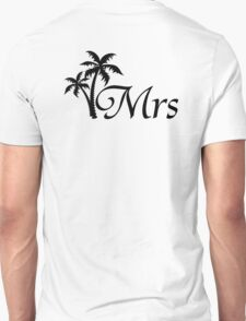 His and Hers Mr and Mrs Palm Tree Honeymoon Matching T-shirts T-Shirt