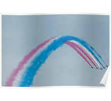 Red, White and Blue Smoke Poster