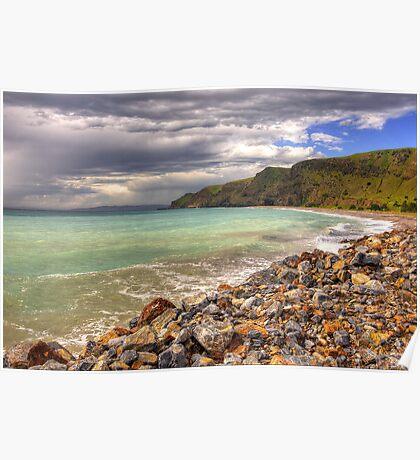Storms near Rapid Bay, Fleurieu Peninsula SA Poster