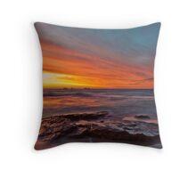 Golden Sunset - Burns Beach Rocks Throw Pillow