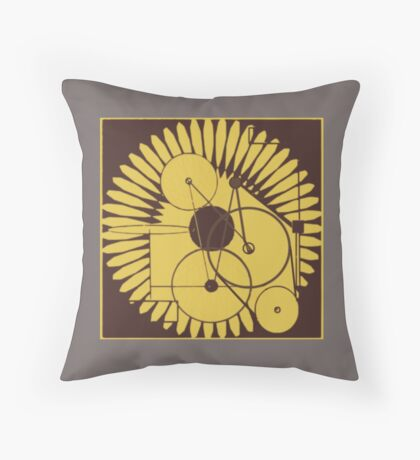 particle oscillator Throw Pillow