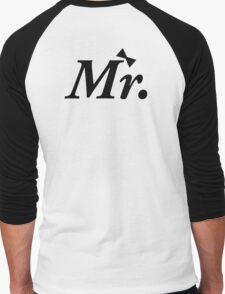 Mr Just Married Honeymoon Newly Wed Design Men's Baseball ¾ T-Shirt