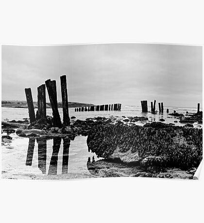 Coastal defences, Courtmacsharry Bay, West Cork, Ireland Poster