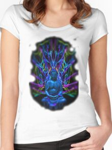 Psychedelic Buddah Women's Fitted Scoop T-Shirt
