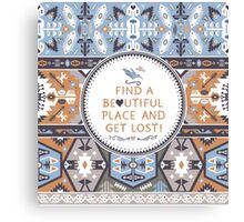 Seamless colorful tribal pattern Canvas Print