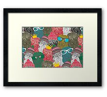 The crowd. Framed Print