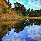 Refections at Lerderderg Gorge by SuzieCheree