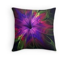 Blue Whispers Throw Pillow