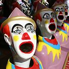 laughing clowns - by Tessa by Janine Paris