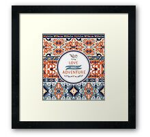 Tribal seamless vintage pattern with geometric elements Framed Print