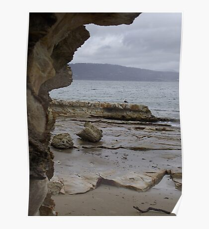 sandstone and sea Poster