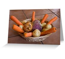 Root crops Greeting Card