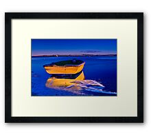"""Gold 'n' Blue Framed Print"