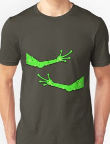 Alien Arms Space Man Hug Green Finger Tickle T-Shirt