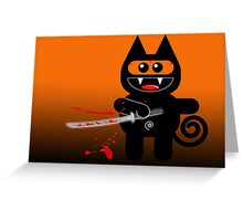 NINJAKAT Greeting Card