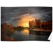 Fall Is In The Air ~ Willamette River ~ Poster