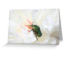 Metallic Rose Greeting Card