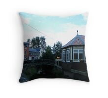 Boo Backit Brig, Strathaven Scotland Throw Pillow