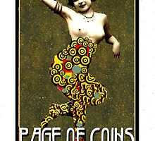 Dada Tarot-Page of Coins by Peter Simpson