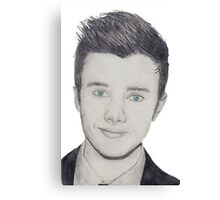 Chris Colfer - pencil  Canvas Print