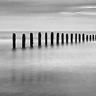 Blyth Beach B&W by Doug Dawson