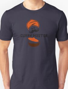 Funny Curry Master Indian Restaurant Chef Turban and Moustache Unisex T-Shirt