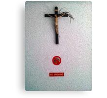 No Smoking Jesus Canvas Print