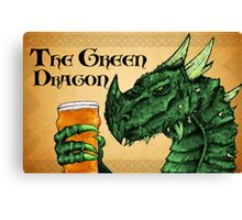The Green Dragon Canvas Print