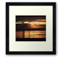 What glitters may be more precious than gold… Framed Print