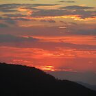 Sunset from Mt Nebo by Edie  Young O'Bryant