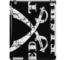 Feed the Fish - Pirate Quote Vintage White iPad Case/Skin