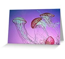 Dance of the Jellyfish Greeting Card