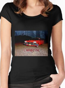Christine - from the mind of horror writer stephen King Women's Fitted Scoop T-Shirt
